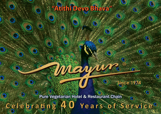 Mayur Group Hotels celebrated 40 years of service. Complimentary food for all guests.